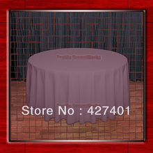 "Hot Sale  132"" R  Claret Round Table Cloth Polyester Plain Table Cover for Wedding Events &Party Decoration(Supplier)"