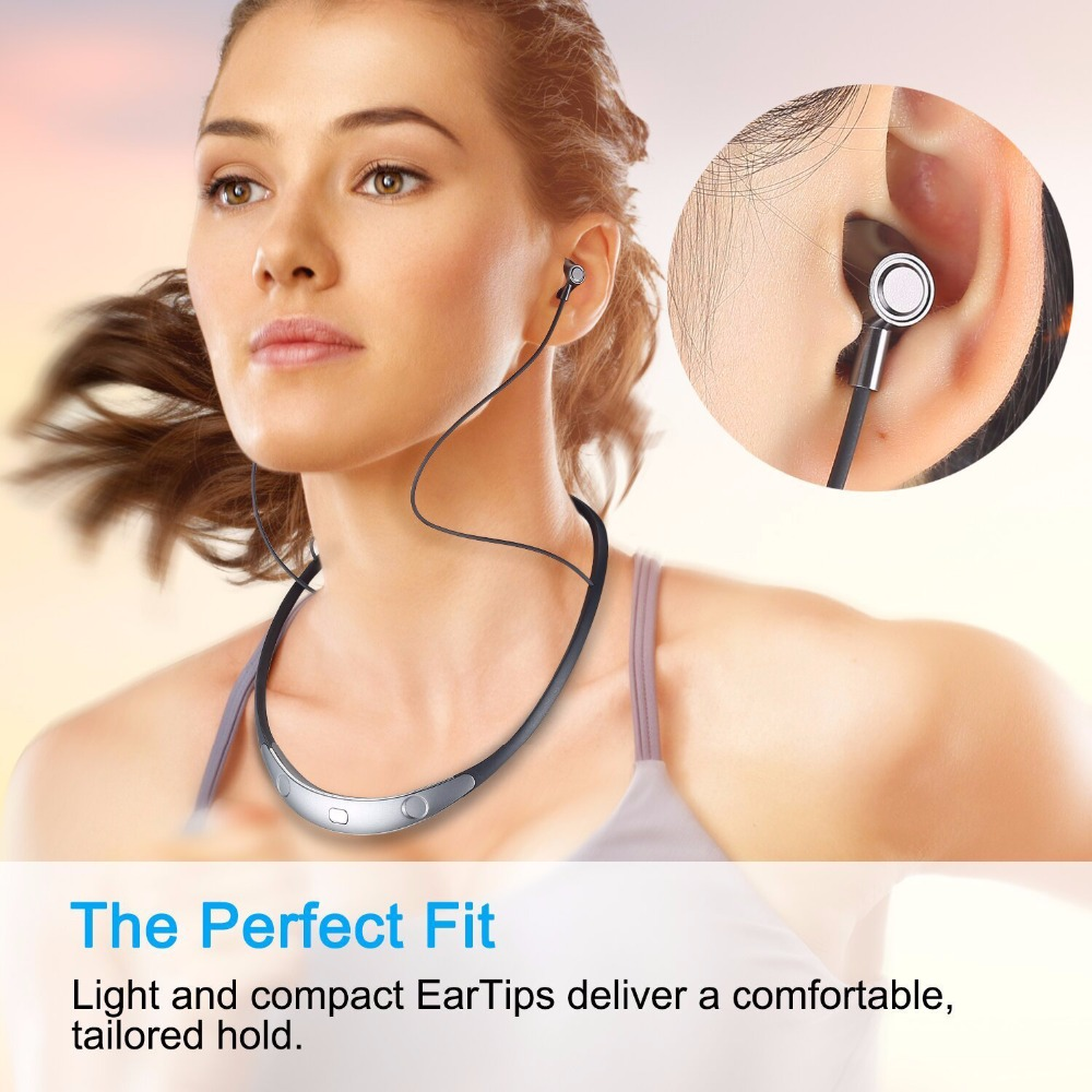 New Sport Bluetooth Earphone Headphones with Magnet Attraction Neckband Stereo Wireless Bluetooth Headset with Mic<br>