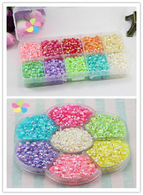 Lucia crafts 4mm/5mm Mixed Colors crystal candy stone resin gems decoration and DIY nail art 1box/lot 007006006(China)