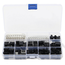 430pcs/A Set Dupont Wire Jumper Pin Header Connector Housing Kit Male Crimp Pins+Female Pin Connector Terminal Pitch With Box