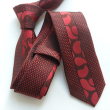 Designer's Skinny Tie Unique Panel Necktie Red Flower Gravata for Men Free Shipping
