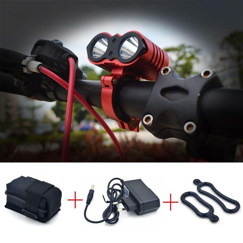 2017 New Waterproof 5000 Lumen 2x XML U2 LED Cycling Bicycle Bike Light Lamp Head Light +10800mAh Battery Pack +Charger<br><br>Aliexpress