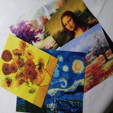 Starry sky Oil Painting patchwork hand cloth cotton DIY fabric for sewing patchwork Godiva/ Mona Lisa print fabric home decora