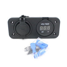 CARPRIE Dropshipping 12V Car Truck usb motorcycle charger waterproof Voltmeter Double USB Charger GPS