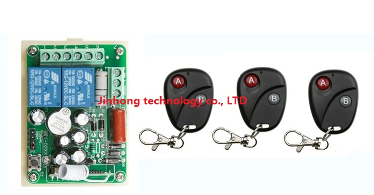 New AC220V 2CH RF Wireless Remote Control System teleswitch 3 transmitter and 1 receiver universal gate remote control<br><br>Aliexpress
