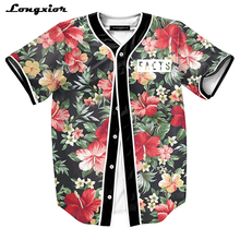 MTS130 Mens Buttons Homme 3D Shirt Streetwear Tees Shirts Hip Hop Bel Air 23 - Fresh Prince Custom Made Baseball Jersey(China)