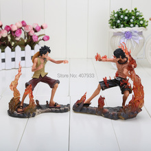 1set 14cm/5.5inch Japanese Anime Figures One Piece DX Brotherhood figures Luffy+Ace Figures PVC set of 2pcs(China)