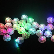 AJP 50Pcs/lot LED  light balloon Noctilucent rainbows The small ball lamp Glow lamp shape for wedding party decoration