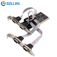 Hihg quality PCI to serial port COM RS232 4 serial port 9pin desktop PCI expansion adapter add on card