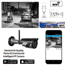 Homtrol IP66 Waterproof Dustproof Wifi IP Camera with Smart Wifi and Motion Detection and Sensitivity Adjustment