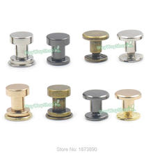 50 PCS Metal Studs Screw back Rivet Leather Craft Brass Button Chicago Belt 2 Size 4 Colors Choice