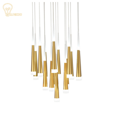 LUNICOO Modern LED Pendant Lamps Iron Metal Light Fixtures Fashion  Bedroom Decorative Restaurant Dining Kitchen Pendant Lamps