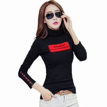 Buy T Shirt Women Tops 2018 Winter Fluff Woman T-Shirt Long Sleeves Turtleneck Patchwork T-Shirts Womens Clothing Cotton Femmes Tees for $15.39 in AliExpress store