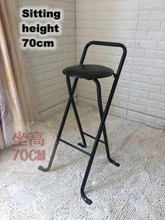 Modern Folding bar stool High foot Chair Comfortable Soft Seat chair For Man/Woman metal frame Wine pub stool(China)