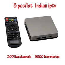 5pcs/lot Indian IPTV BOX Support Indian Live TV Channels with English channels internet TV box Android IPTV Box Free(China)