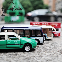 1:64 Combination packages taxi Bus Alloy car model kids toys metallic material Decoration and Decoration(China)