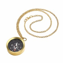 Buy Vintage Brass Long Chain Necklace Shellhard Steampunk Compass Pendants Necklace Fashion Jewelry Accessories Women Men kolye for $4.02 in AliExpress store