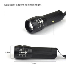 MARS MADAM LED mini Aluminum alloy self-defense flashlight high-grade, outdoor advertising gifts, zoom, strong light flashlight