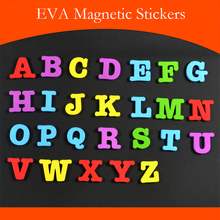 26Pcs/lot EVA Uppercase/Lowercase Letters Fridge Magnets Magnetic Blackboard Early Education Refrigerator Magnet Sticker For Kid