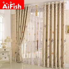 Rustic Window Treatment Drapes Clover Dandelion Design Curtains For living Room Bedroom Blackout Cloth With Home Decor AP206#20