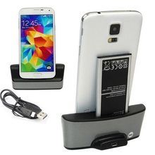 Dual Charging Battery Charger Phone Holder Cradle Dock Stand Phone Charger For Samsung Galaxy S5 SV i9600