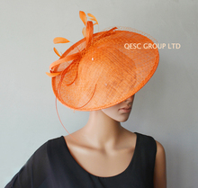 NEW 17 colours Big Sinamay fascinator hat for kentucky derby ,wedding party.orange,hot pink,purple,royal blue,red,dark grey ect.