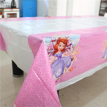 Cartoon Theme Kids Favors Sofia Princess Tablecover Tablecloth Baby Shower  Happy  Birthday Party Decoration Supplies 108*180cm