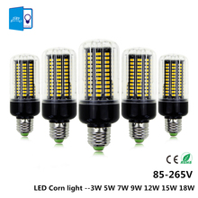 [DBF]E27/E14 LED Corn lamp Bulb light SMD 5736 3W 5W 7W 9W 12W 15W 18W 85V-265V More Bright  5730 5733 Constant current driver