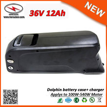 China Manufacturer 10S5P Li Ion Battery Pack 12Ah 500W E-Bike 36v Electric Bike Lithium Battery with Dolphin Case USB Port(China)