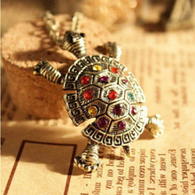 New Fashion Turtle Pendant Necklace Vintage Cute Sweater Tortoise Necklaces  For Women Jewelry Wholesale