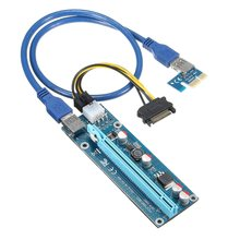 PCIe 1X 4x 8x 16x Extender Riser USB 3.0 PCIE Riser Card Express Adapter Card SATA IDE 15pin Male to 6pin Power Cable for Mining