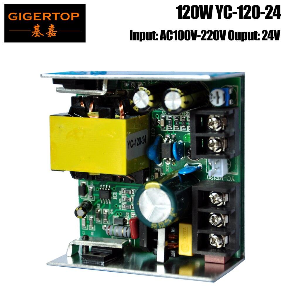 TIPTOP YC-120-24 120W New Power Supply for Mini 7x10w Led Moving Head Light Screws Power Socket Wedding Show Club Bar 110V-220V<br>