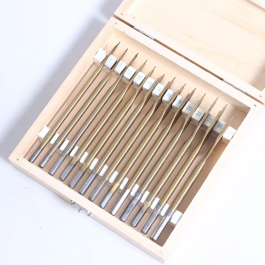13 pcs/set Flat Spade Drill Bits Set Titanium Coating Wood Boring Bit 1/4 Hex Shank Woodworking Power Tool Accessories<br><br>Aliexpress
