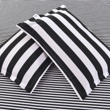 Beauty Black White Stripes Printed Bedding Sets Bedclothes Cotton Duvet Cover Set Pillowcases Bed Linens Flat Sheets for Adults(China)