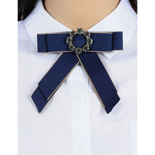 ZHINI Fashion Style Jewelry Cheap Statement Scarf Brooch Pins Hot Sale Bowknot Trendy Bohemian Cloth Clip Women Tie Bow Brooches(China)