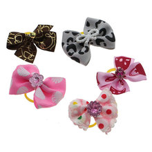 2Pcs Cute Lovely Pet Bow Tie Dog Puppy Cat Grooming Hair Clip Hairpin Topknot Bowknot