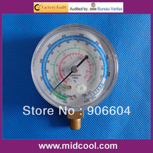 Good quality R22 R404A R134A manifold gauge(low pressure 68mm gauge)(China)