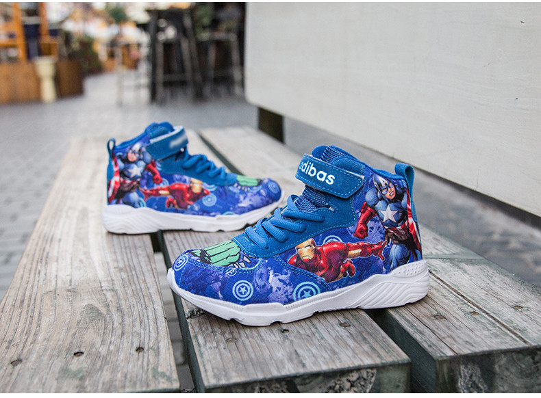 Kids Sneakers For Boys Basketball Shoes Running The Avengers Baby Casual Children shoes Sport boot Cartoon gamin chaussure (18)
