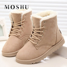 Classic Women Winter Boots Suede 발목 눈 Boots Female Warm 퍼 봉 제 Insole (High) 저 (Quality Botas 보낸 Mujer Lace-업(China)