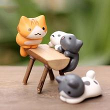6pcs mini cute cats flowerpots micro fairy garden miniature decoration figurines action figures dollhouse DIY accessories Random