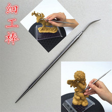 new style high quality Double head stainless steel tools super light clay sculpture playdough tools