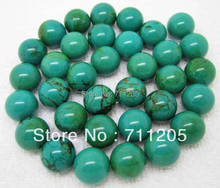 "wholesale 31pcs , Natural 12mm Turquoises Round Loose Beads 15"",Min.Order $10,provide mixed wholesale for all items!"
