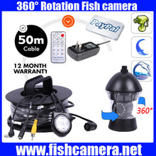 50Meters Depth 360 Degree Rotative Underwater Camera with 14pcs of White or IR LED for Fish Finder & Diving Camera Application