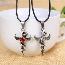 The Hot Fashion Personality Wing Shape Characteristic Fine Jewelry Alloy Angel Cross Pendant Necklace Wholesale Personality C059