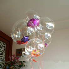 "New Coming 5Pcs 18"" BOBO Clear Bubble Balloon, Giant Big Confetti Birthday Wedding Party Decorate Balloons(China)"