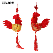 1PC New China Wind 8cm Little Chicken Pendant Plush Rooster Cock Small Doll Gift Plush Toy Decor Pendant Toy Wedding Gifts