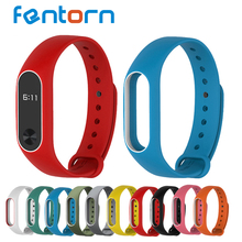 2017 New Silicone Replacement Wrist Strap for Miband 2 Xiaomi Mi band 2 Smarr Bracelet Double Color
