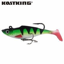KastKing Brand 100mm 2pcs/lot Soft Lead Fish Fishing Lures 22g Freshwater & Saltwater Fishing Tackle Soft Bait Bass Hook(China)