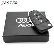 JASTER USB 2.0 Pen Drive audi Car Key Usb flash drive Audi Gift Box pendrive 64GB 32GB 16GB 8GB u disk memory stick U disk