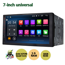 Latest  7'' Quad Core Android 5.1 HD Full Touch Screen Double 2 Din Car Radio video Head Unit  Car Multimedia Player